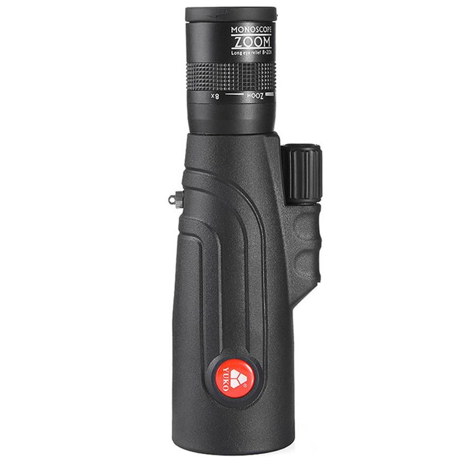 yuko 8 20x50 monocular telescopio zoom de alta potencia todo o vidro optico foco monocular fmc