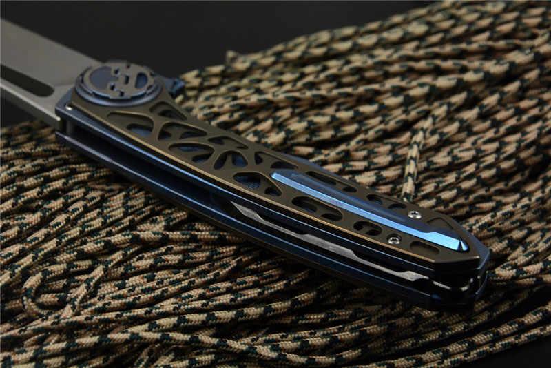 Новые ножи Harpoon VENOM M390 стальное складное лезвие, выдолбленный титан или углеродное волокно ручка охотничья Рыбалка карманный нож