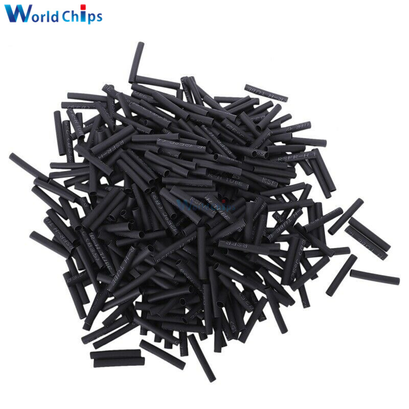 400pcs 3.5mm Polyolefin Heat Shrink Tubing Electrical Connection Wire Cable Wrap 2:1 Insulated Sleeving Tubing Set Black