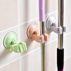 Присоска подвесная тряпка для швабры Ванная комната Кухня метла полка дыропробивная кажущаяся Швабра крюк для швабры клип слот для карт