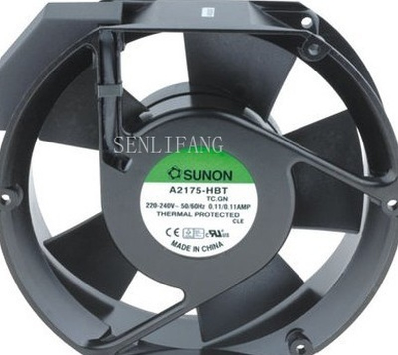 For SUNON A2175-HBT TC.GN 17CM 172*172*51MM AC220V Capacitor Axial Flow Fan