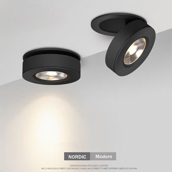 Slim Ceiling lamp Dimmable LED Downlight 5W 7W 10W 12W Round Recessed Lamp Foldable and 360 degree rotatable LED Spot Lighting triac dimmable 0 10v dimmable dali dimmable 130lm w 50w gimbal downlight 360 degree recessed ceiling led lights 12pcs lot
