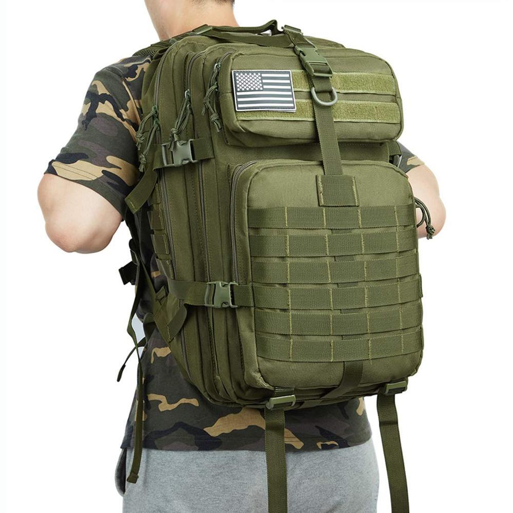 45L Large Capacity Man Army Tactical Backpacks Military Assault Bags Waterproof Outdoor Sport Hiking Camping Bag Rucksack