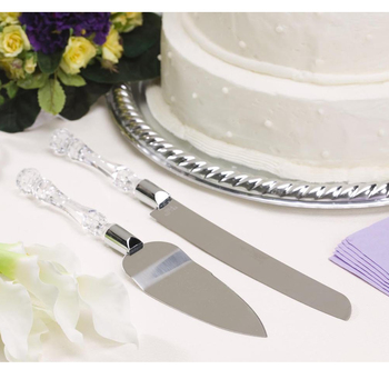 Prime Cheap Product V7Yxq Behogar 2Pcs Wedding Resin Cake Knife Blade Personalised Birthday Cards Bromeletsinfo