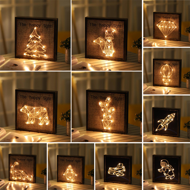 Restoring ancient ways Plastic Photo frame Coloured lights Space Animal Botany A living room decorate modelling