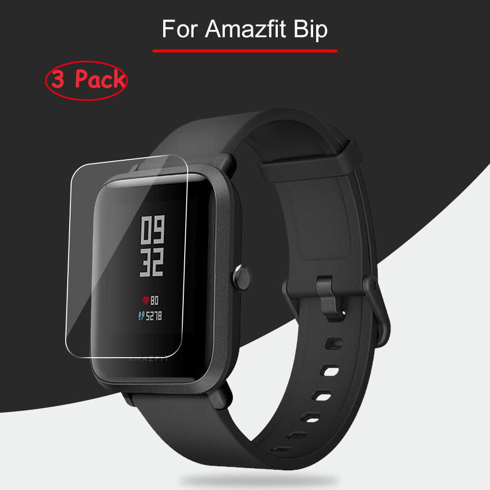 3Pcs Clear Screen Protector For Xiaomi Huami Amazfit Bip Youth Soft HD Clear (Not Tempered Glass) Protective For Amazfit Bip