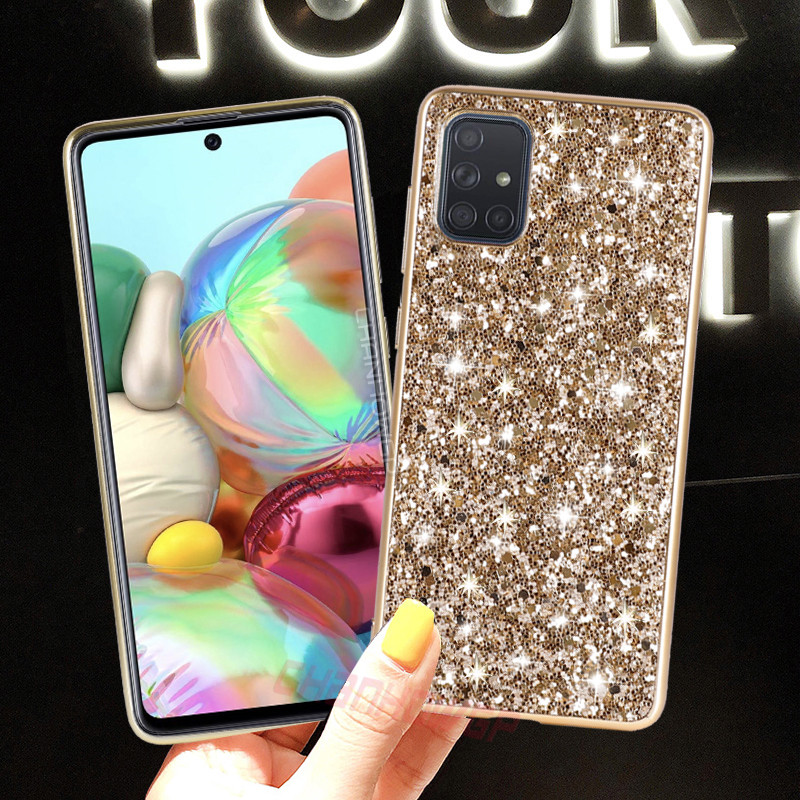 Bling Glitter Sequins Case For Samsung Galaxy S20 Ultra S10 Plus S9 S8 Note10 A51 A71 A50 A70 A30 A40 A20 A10 A20E Soft Cover