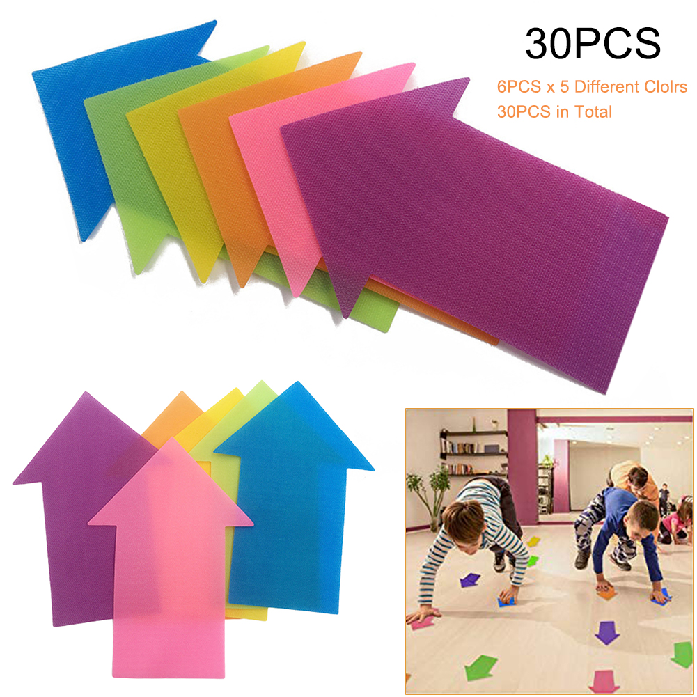 30PCS Spot On Bright Stars Carpet Markers Reusable Arrow Shape  Training Floor Sitting Sport Spot Sit Markers For Kids Adults