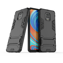 Phone Bumper For Xiaomi Redmi Note 9S 9 Pro Max Case TPU & Pc Holder Protective Case For Xiaomi Redmi Note 9S Cover Funda 6.67'' недорого