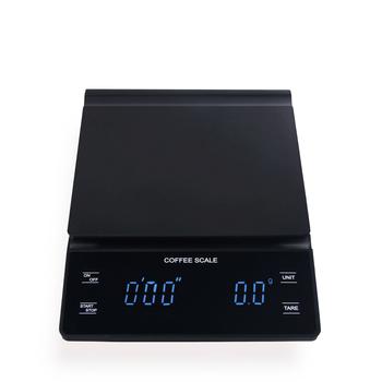 Elektroniczna waga do kawy ręka wszechstronny Bar waga elektroniczna Gram skala z zegarem 3KG waga kuchenna wyświetlacz LED waga do żywności tanie i dobre opinie CN (pochodzenie) Plac DIGITAL 31040 Z tworzywa sztucznego Baterii 0 1g d = 0 1g 225g 3xAAA battery 18x13x2cm 20x15x4cm