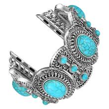 Bohemian Ethnic Antique Style with Turquoise Handmade strap for apple watch band 42/38/44/40mm Bracelet for iwatch serie 4 3 2 1