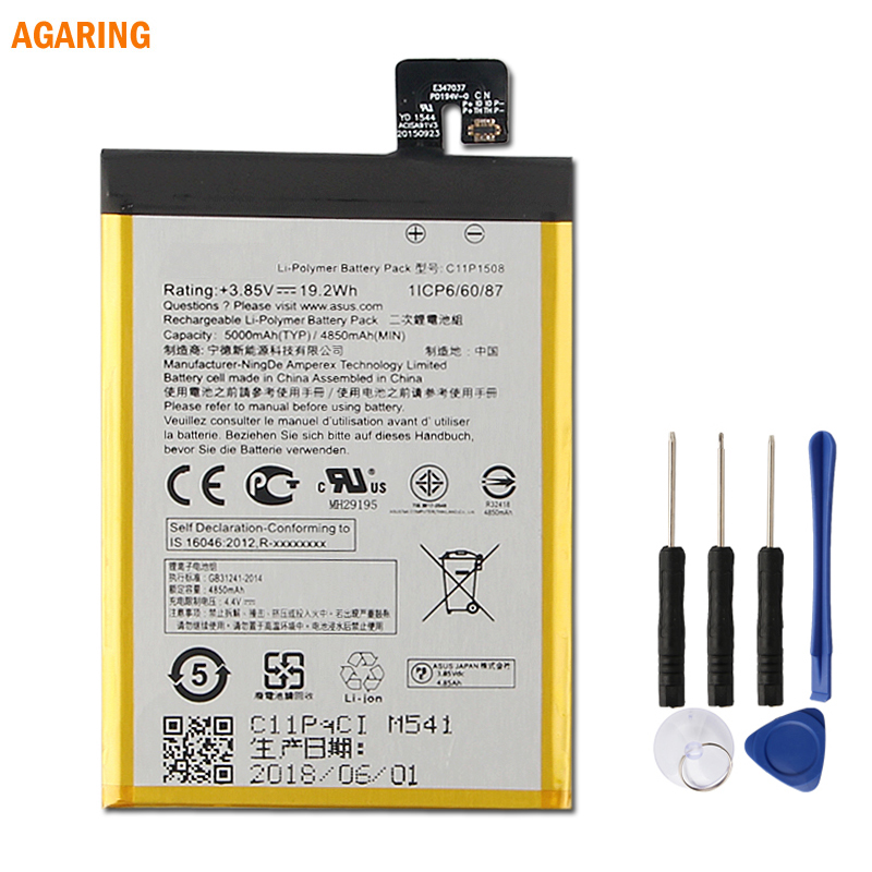Agaring Original Replacement Phone <font><b>Battery</b></font> C11P1508 For ASUS Zenfone max 5000Z C550KL <font><b>ZC550KL</b></font> Z010AD Z010DD Z010D Z010DA 5000mAh image