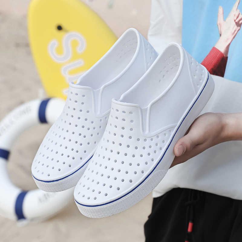 2020 erkekler sandalet yaz terlik terlik erkekler açık plaj rahat ayakkabılar katı Unisex sandalet su ayakkabısı Sandalia Masculina