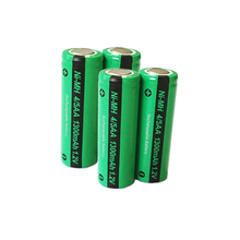 4 x PKCELL 4/5AA Ni MH Battery 1.2V 1300mAh  NiMh Rechargeable Battery For Soldering Flat Top