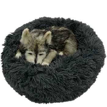 Legowisko dla psa długie pluszowe Super miękkie łóżko dla zwierząt hodowla okrągły domek dla psa łóżko dla psów łóżko Chihuahua duża duża mata ławka artykuły dla zwierząt tanie i dobre opinie DCPET Pranie ręczne Ekologiczne Stałe pet bet Łóżka i sofy Faux Futra 500g-1900g 40CM 50CM 60CM 70CM 80CM 100CM 90CM