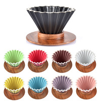 Ceramic Coffee Filter Cup  Hand Made Coffee Filter Cup  Origami Filter Cup  V60 Funnel  Drip Type  Hand Cup Filter Coffee Pot|Coffee Pots| |  -