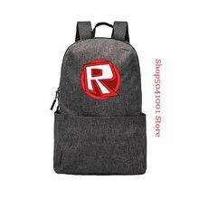 цена на Solid color Canvas Robloxer Backpack For Teenagers Kids Children School Bags Travel Shoulder Bag Unisex Laptop Bags