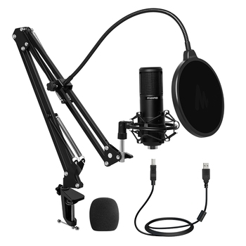 MAONO PM430 USB Microphone 25mm Large Diaphragm 92KHZ/24Bit Cardioid Condenser PC Mic for PC Youtube Gaming Studio Recording
