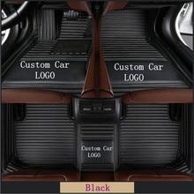 Custom LOGO Car Floor Mats For Toyota Land Cruiser Prado 120 150 Waterproof Leather Floor Mat Car-styling Interior Car Carpet Ma цена 2017