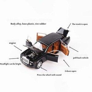 Image 2 - 1:24 Rolls Royce Cullinan alliage voiture modèle Simulation SUV métal voitures modèle lumière son tirer retour échelle voiture Miniatur voiture HC0004