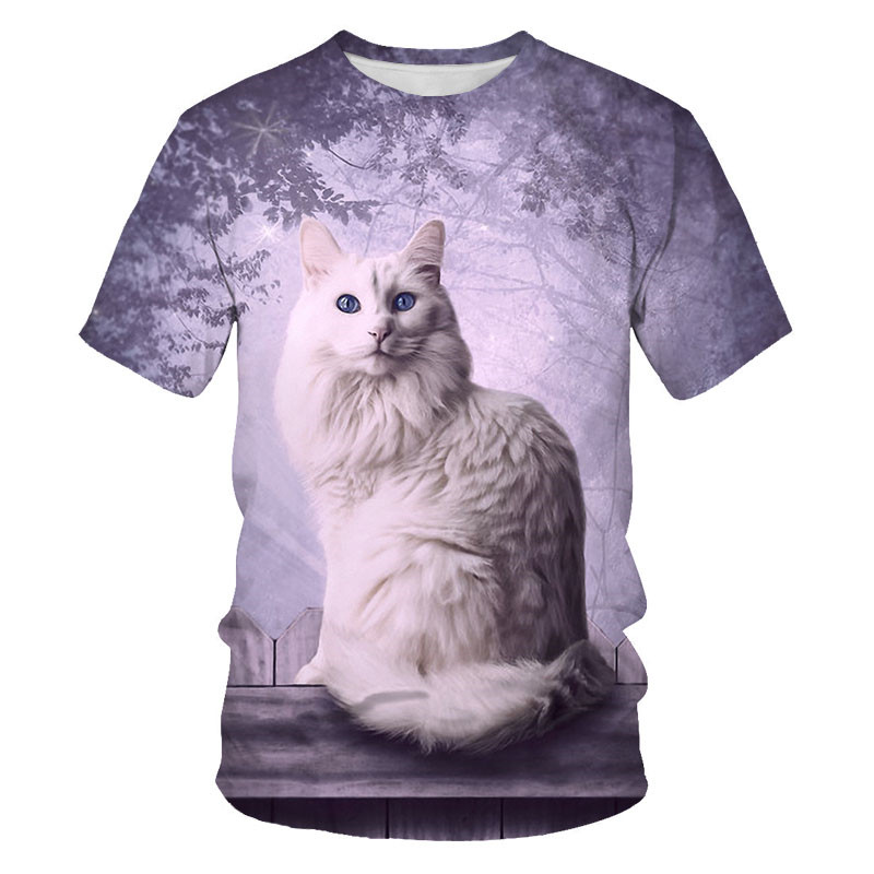 Ha695dfa66f944ad7bfbddfa83066638cN - T-Shirts For Girls Print T Shirt Girls Cartoon Cat Kids Tshirt Summer Teen Clothes Summer Short Sleeve T-Shirts for Girls Clothes Cat Butterfly Baby T Shirt Toddler Tops 4 5 6 8 10 12 13 14 Year