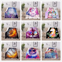Flannel Keep Warm Blanket Sherpa Fleece Soft Blanket Personalized Picture Rug Home Decoration For Bed Drop Shipping