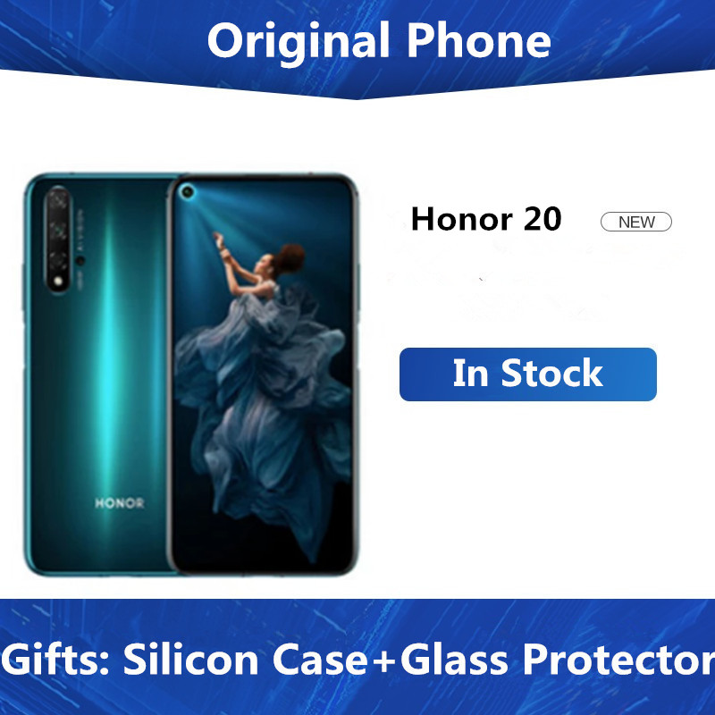 Honor 20 8GB 256GB Mobile Phone 6.26inch NFC 48MP+16MP Camera Kirin 980 Octa Core Android 9 Super Charge 3750mAh