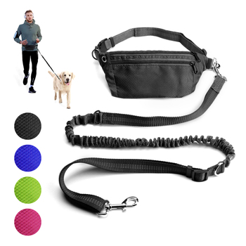 Hands Free Dog Leash For Running Walking Jogging Training Hiking Retractable Bungee Waist Large Dogs Accessories