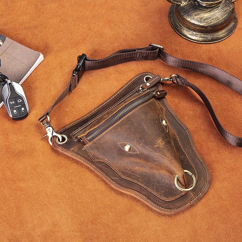 clássico ombro estilingue saco moda viagem fanny cinto pacote perna saco 833