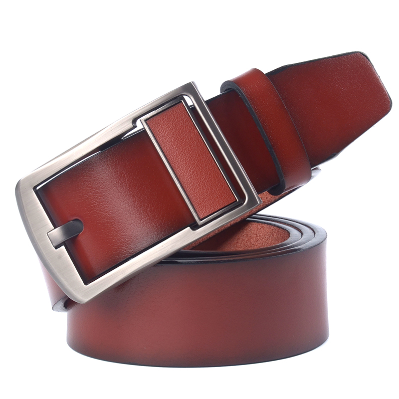 Double Side Men Leather Belt High Quality Leather Belt Luxury Designer Belts New Fashion Classice Vintage Pin Buckle Male Belts