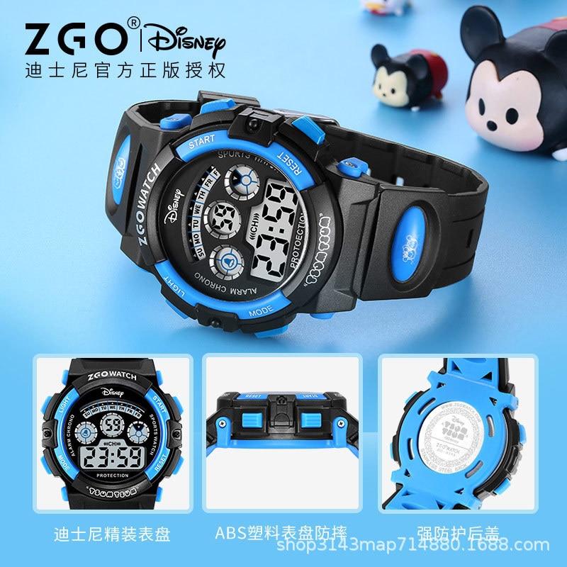 Оригинальный Disney Часы Мальчики Водонепроницаемый Простой Songsong Series Cartoon Digital Electronic Watch Kids Watches Boys Kids Watches