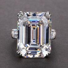 WUKALO простые блестящие большие прямоугольные циркониевые женские кольца доступны белые/розовые камни свадебное кольцо высшего качества Бл...