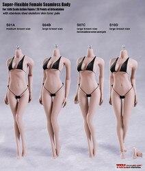 Phicen tblegue 1/6 skala kobiet jednolite ciało rysunek S01A S04B S07C S10D blady kolor kobieta Model postaci