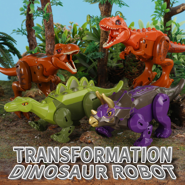 Dinosaurs Transform Robot Jurassic Park Action Figures Toys for Boy Assemble Children Toy 6 to 10 Years Educational 2