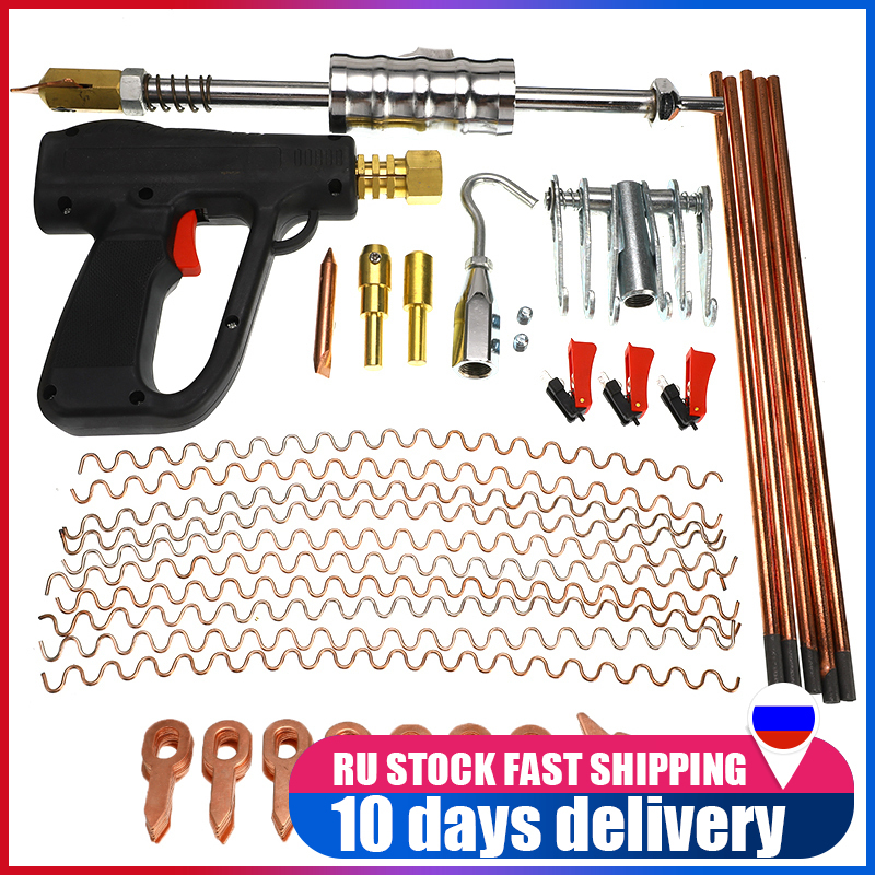 86 Pcs Car Body Repair Tools Dent Puller Kit Spot Welding Spotter Welder Gun Removing Straightenging Dents Remover Device Set