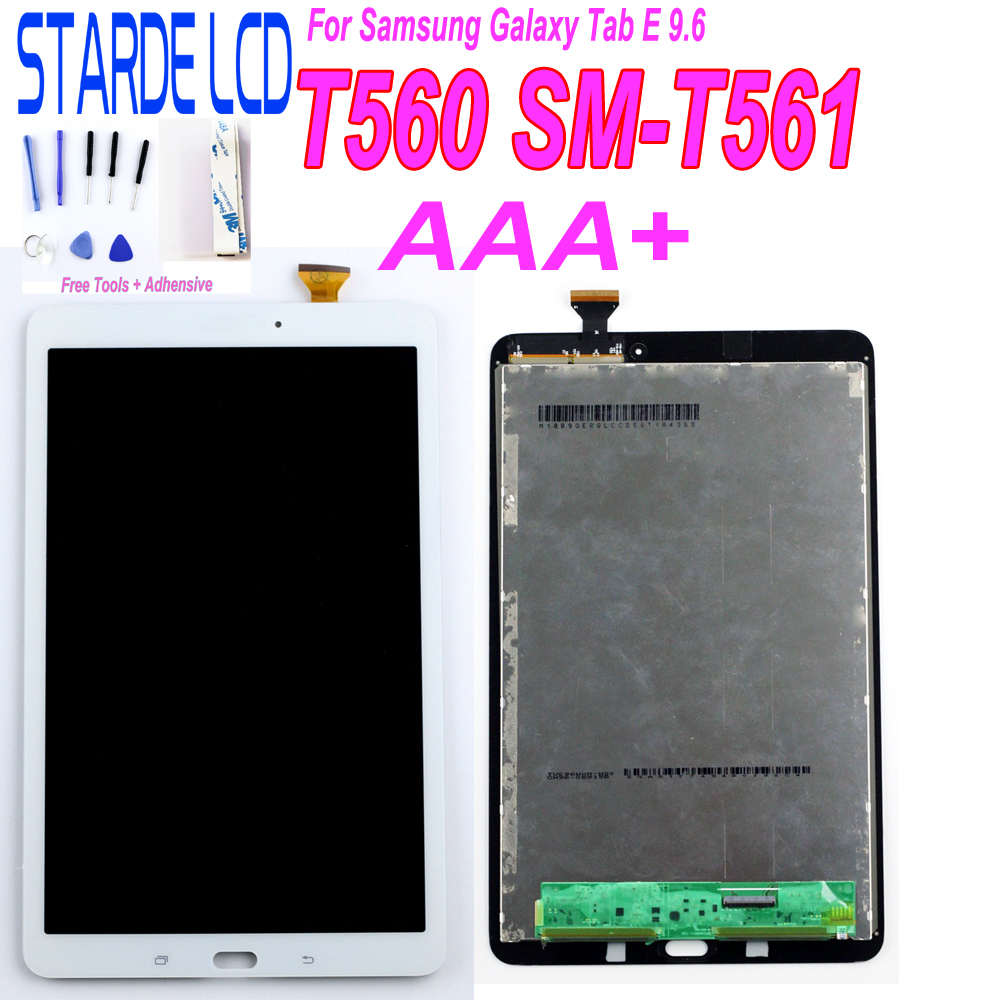 STARDE LCD For Samsung Galaxy Tab E 9.6 SM-T560 T560 SM-T561 LCD Display Touch Screen Digitizer Panel Tablet Assembly Repair Par