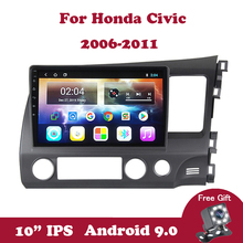 Android 9.0 Car Radio For Honda Civic 2006-2011 Left Right Multimedia DVD Player 2 Din 10.1 IPS Touch Screen GPS Navigation TB