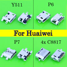 Micro USB connector charge jack For HUAWEI Y511-T00 Y511/P6 G610 G710 G730 c8815 c8816 3c 3x/P7-L05-L07/C8817E C8817D G621-TL00(China)