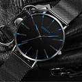 2020 Minimalist Mens Fashion Ultra Thin Watches Simple Men Business Stainless Steel Mesh Belt Quartz Watch Relogio Masculino