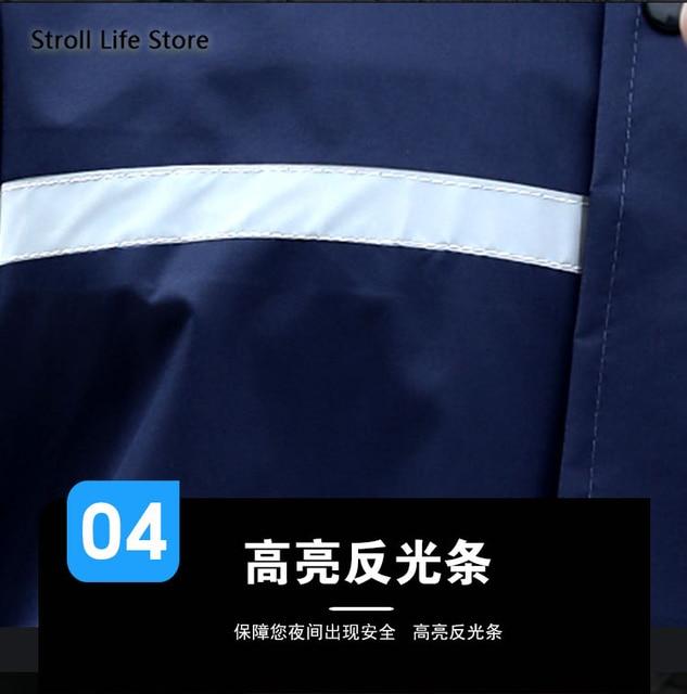 Adult Waterproof Rain Coat Pants Split Battery Motorcycle Raincoat Hiking Waterproof Suit for Fishing Breathable Chest Waders 5