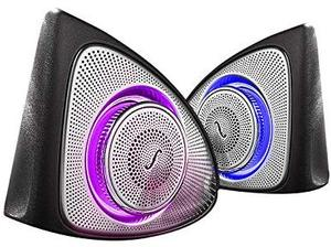 Image 3 - Car Interior 3 Colors Led Ambient Light 3D Rotary Tweeter Speaker for C Class W205 C180,C200 C250 C300,C350(W205)