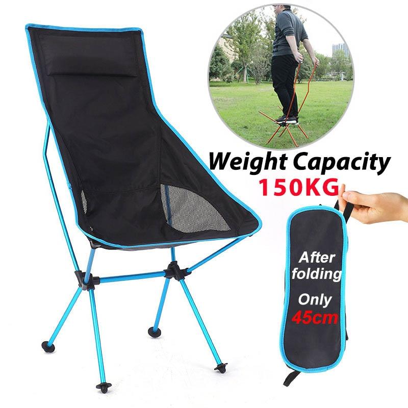 Cadeira de acampamento ao ar livre oxford pano portátil dobrável alongar assento acampamento para o festival pesca piquenique churrasco praia ultraleve cadeira