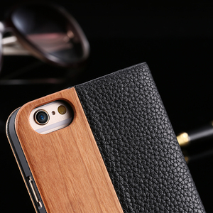 Image 3 - KISSCASE Bamboo Natural Wood Case For iPhone 11/11 Pro Max XR X XS Max 7/8 Plus 11 PU Leather Flip Cases Pouch Bag S10 Plus P30
