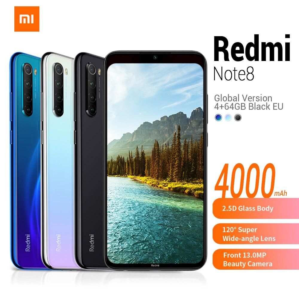 En Stock versión Global Xiaomi Redmi Note 8 4G teléfono inteligente 6,3 'MIUI 10 Qualcomm Snapdragon 665 32/64/128GB 48.0MP teléfono móvil En Stock versión Global Xiaomi Redmi 7A 7 2GB 32GB 5,45