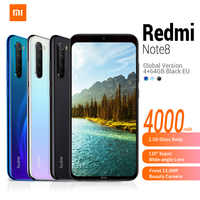 In Stock Global Version Xiaomi Redmi Note 8 4G Smartphone 6.3' MIUI 10 Qualcomm Snapdragon 665 32/64/128GB 48.0MP Mobile Phone