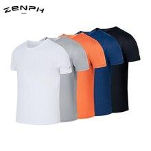 Zenph Быстросохнущий светильник, дышащая футболка с круглым вырезом и короткими рукавами, удобная спортивная рубашка, быстросохнущая рубашка для мужчин и женщин