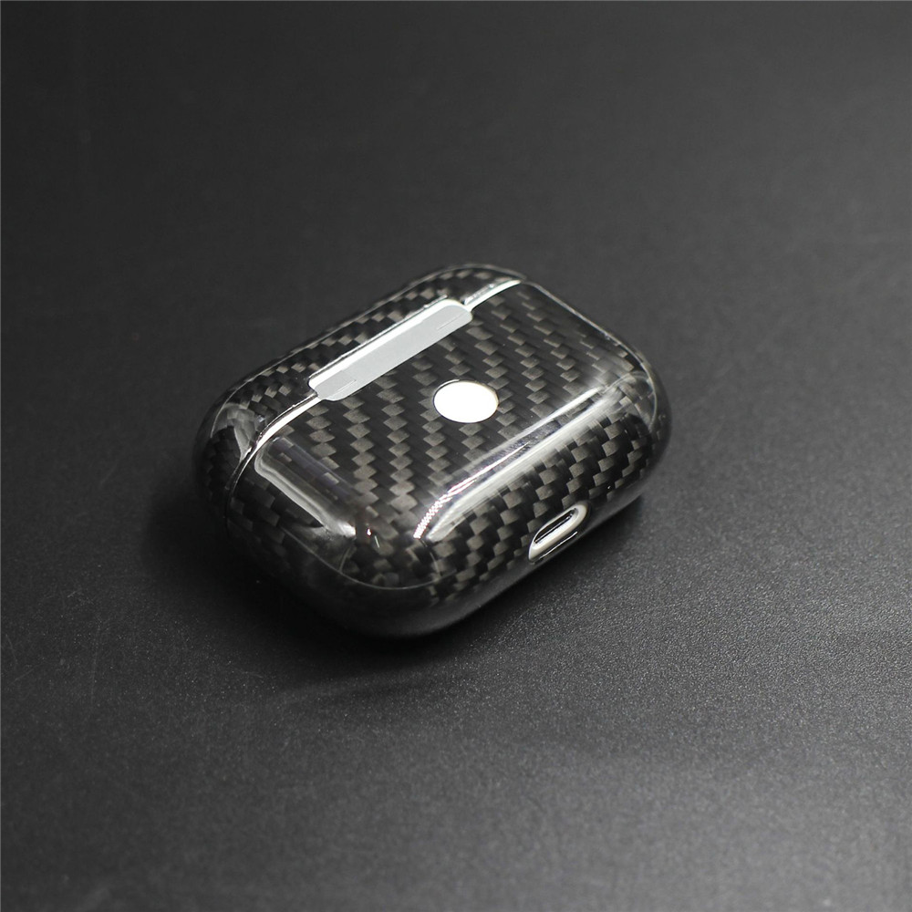 New Real Carbon Fiber Protective Case For AirPods Pro Wireless Earphone Charging Case Shockproof LED Cover Earphone AccessoriesEarphone Accessories   -