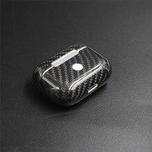 Yeni gerçek karbon Fiber koruyucu kılıf AirPods için Pro kablosuz kulaklık şarj durumda darbeye dayanıklı LED kapak kulaklık aksesuarları