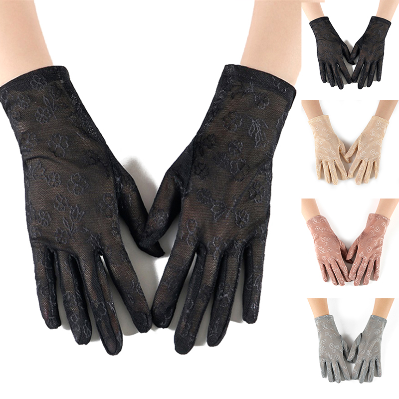 Fashion Female Sexy Dressy Gloves Full Finger Women Lady Lace Mittens Party Accessories Summer Sunscreen Girls Thin Gloves