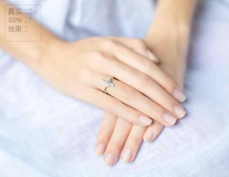 SMJEL เงินเรขาคณิตแหวนปรับรอบสามเหลี่ยม Heartbeat Finger แหวนเครื่องประดับ Minimalist bagues pour femme 2019